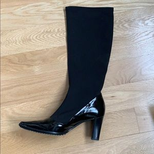 France Mode Black Boots